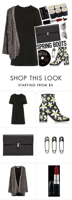 """""""Daisy ankle boots for spring"""" by karineminzonwilson ❤ liked on Polyvore featuring Topshop, Maison Margiela, Alexander McQueen, MANGO, MAC Cosmetics and Valentino"""