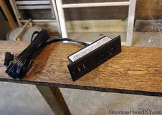 console table charging station for behind our sofa