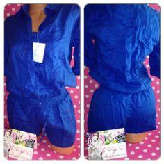 New Victorias Secret Blue Drawstring Easyfit 100 Linen Romper Shorts Cover Up 4 | eBay