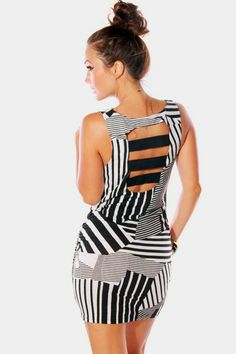 #1015store.com #fashion #style Cover Story cut out back fitted party mini dress-$15.00