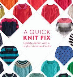 A Quick Knit Fix (via Boden UK).