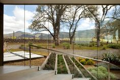 Glass walkway brings the outside in_Party of Five | California Home + Design