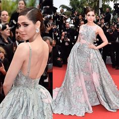 Blooming lovely: @chomismaterialgirl is a glorious sight to behold tonight at the #BFG #premiere during the 69th annual #cannes #filmfestival.  She looks absolutely breathtaking in this floral print fit-for-a-princess gown from the #spring2016 #zuhairmurad #couture collection  #cannes2016 #cannesfilmfestival #chompoo
