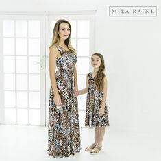 Shop online and order made-to-order matching fashion for moms and daughters and get delivery direct to your door! Animal Print Maxi Dresses, My Mom, My Outfit, Daughters, Delivery, Shopping, Clothes, Fashion, Outfits