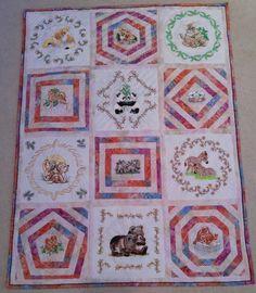 Baby quilt for best friend's first grandchild.