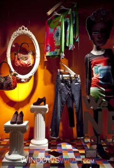 Shop the Desigual, London, Regent Street window on WindowsWear.