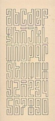 typeface by Jurriaan Schrofer (date unknown)  i like the k