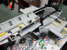 View images and photos in CNET's Giant Lego Serenity spaceship astounds (pictures) - This early image from Serenity's construction (see the full gallery on Flickr) reveals a mountain of work still left to go in the building process.  via @CNET