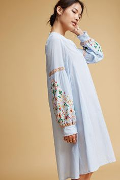 Shop Anthropologie's latest selection of new dresses, from maxi to midi dresses. Shop floral & lace for spring dresses, summer dresses, fall dresses, & winter dresses. Embroidered Sweatshirts, Embroidered Tunic, Modest Fashion, Fashion Outfits, Women's Fashion, Fall Outfits, Cute Outfits, Summer Outfits, Casual Outfits