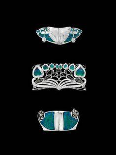 Art Nouveau French Silver Buckle Made by Emile Dropsy circa Archibald Knox, Bijoux Art Nouveau, Art Nouveau Jewelry, Manx, Jewelry Crafts, Jewelry Art, Enamel Jewelry, Vintage Jewellery, Isle Of Man