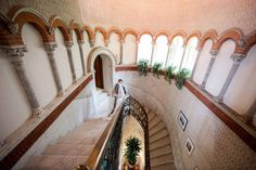 Beautiful stairwell in Villa Cipressi, Italy #Collection26