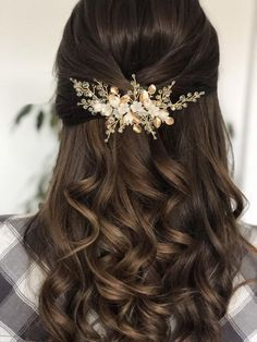 Quince Hairstyles, Wedding Hairstyles For Long Hair, Down Hairstyles, Hairstyles For Brides, Bridesmaid Hairstyles, Wedding Reception Hairstyles, Sweet 16 Hairstyles, Bridal Hairstyles, Long Hair Wedding Styles