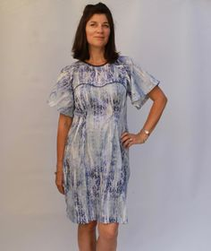 The Ansa Butterfly sleeve dress Named Patterns - just went high on my lust list