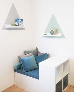 KALLAX Ideen für das Kinderzimmer Leseecke mit verstecktem Stauraum www.limmaland.com