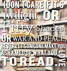 When you have and English degree loaded with years of classic literature and writing under your belt, well, still don't judge! This always bears repeating. Don't judge. JUST READ!