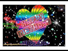 Happy Birthday Grandaughter, Purple Happy Birthday, Happy Birthday Frame, Happy Birthday Video, Happy Birthday Minions, Happy Birthday Flower, Singing Happy Birthday, Birthday Music, Happy Birthday Animated Cards