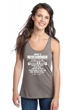 being a researcher Racerback Tank
