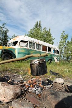 alaska into the wild fire nature outdoors forest cooking bus hiking Camping Wilderness Alexander Supertramp chris mccandles Christopher Mccandless, Into The Wild, Visit Alaska, Adventure Is Out There, Adventure Awaits, Great Movies, Camping, The Great Outdoors, Wilderness