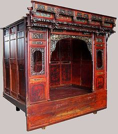 Chinese Wedding Bed. My dream bed.
