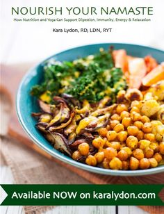 Nourish Your Namaste: How Nutrition and Yoga Can Support Digestion, Immunity, Energy & Relaxation is a must have e-book for anyone looking for alternative therapies to improve health and wellness. Loaded Sweet Potato, Tahini Dressing, Vegetarian Chili, Nutrition Tips, Holistic Nutrition, Health Tips, Easy Weeknight Meals, Dietitian, Healthy Recipes