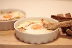 As Minhas Receitas: Ovos no Forno com Fiambre e Alho Francês