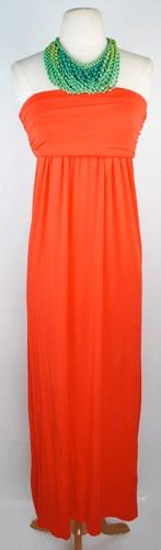 great coral maxidress - from vestique