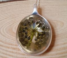 Upcycled Silver Plated Seed Spray Resin Spoon Necklace £9.00