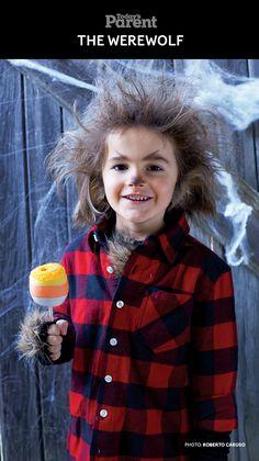 DIY Classic Werewolf Kids Halloween Costume #TodaysParent #HalloweenKidsCostume