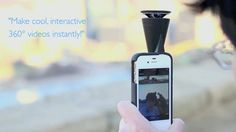 GoPano micro: 360° lens attachment for your iPhone 4S & 4 by GoPano. Find more on www.gopano.com
