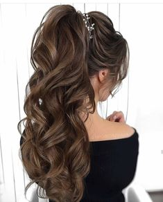 10 Best Wedding Hairstyles For Long Hair Party Hairstyles For Long Hair, Quince Hairstyles, High Ponytail Hairstyles, Bride Hairstyles, Down Hairstyles, Pretty Hairstyles, Easy Hairstyles, Hairstyle Ideas, Long Hair Wedding Styles