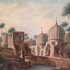 Luigi Mayer, Tombs of Great Muslim Saints, Rosetta, Egypt; c. 1800, French occupation; NYC Met.