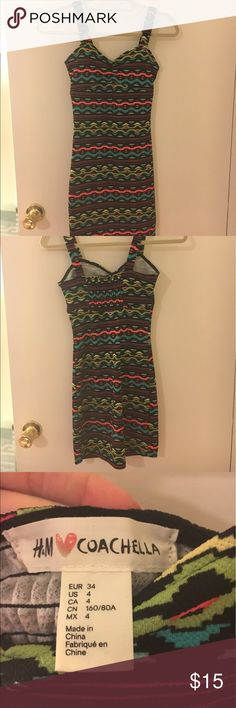 Neon H&M Coachella mini dress Neon H&M Coachella mini dress H&M Dresses Mini
