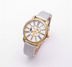 Grey leather band luxury wrist watch for women WESTCHI BRAND DESGN