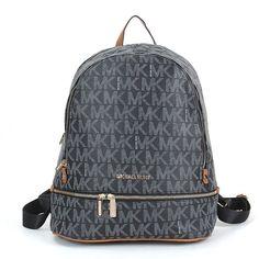 2bb3c4300b35 Michael Kors Charm MK Logo Vanilla Zipper Backpack Black #michaelkorsbag  #ladieshandbag #womenhandbags Michael