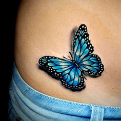 Realistic colour butterfly tattoo done by Brandon Marques. - Realistic colour butterfly tattoo done by Brandon Marques. Timeless Tattoo Studio, Toronto, ON. Realistic Butterfly Tattoo, Blue Butterfly Tattoo, Butterfly Tattoo Meaning, Butterfly Tattoo On Shoulder, Butterfly Tattoos For Women, Butterfly Tattoo Designs, Tattoo Flowers, Blue Butterfly Meaning, Simple Butterfly