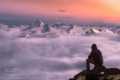 Above The Clouds by Erdenebulgan  tour Canon 6D Nature Landscape Travel Canon Photography Outdoor Russia Mountain Clouds Beautiful Awe