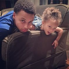 Riley and Steph Curry
