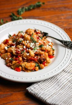 Vegetarian Greek Gnocchi with Chickpeas and Artichokes