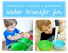 My Merry Messy Life: Cheap Montessori Water Transfer Tray Activity for Preschoolers