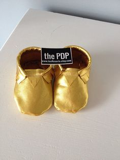 Baby moccasins, Metallic gold genuine leather, ready to ship size 3-6 months on Etsy, $28.00