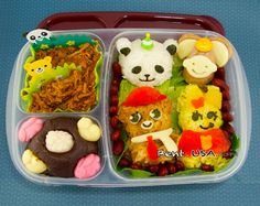 Cute Animal rice bento recipe in #easylunchboxes #bento_lunch