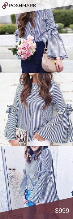 🌟P R E V I E W🌟Striped Flare Sleeve Top ❤️ARRIVING IN FEB/MARCH❤️  •Brand new unbranded boutique item •Like this listing and will tag you once the item arrives, price will be lowered •Measurements available once the item gets here •If you cannot figure out your size let me know your measurements and will tell you if it will fit or not. •Fabric is cotton  © Rebellious Cactus Boutique 2017 Tops