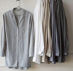 Heathered Cotton Cashmere Nightshirt; RH