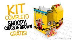 Faça uma linda festa personalizada usando o kit festa Snoopy e sua Turma com + de 100 moldes grátis para você baixar e montar em casa! Clique e confira!