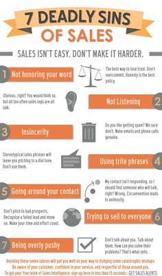 7 Deadly Sins of Sales