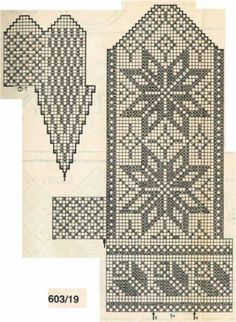 варежки жаккард схема Knitting Charts, Knitting Stitches, Knitting Socks, Knitting Patterns, Knitted Mittens Pattern, Crochet Mittens, Crochet Gloves, Chart Design, Wrist Warmers