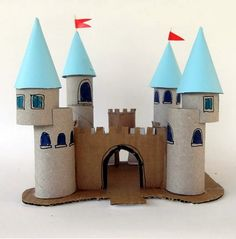 EL MUNDO DEL RECICLAJE: Recicla rollos de papel higiénico y haz un castillo
