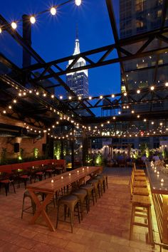 Refinery Hotel - New York City, New York - The 3,500-square-foot rooftop bar is a New York summer hotspot.