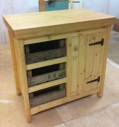 Details About Rustic Pine Freestanding County Kitchen Storage Centre Island Unit Cupboard