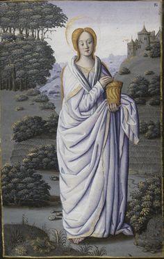 Sainte Marie-Madeleine, Horae ad usum romanum, 1475-1600, BNF ms Latin 1171, 84r